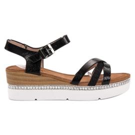 Seastar Sandales à la mode avec des zircons noir
