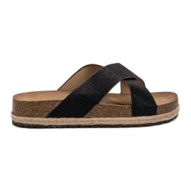 Goodin Pantoufles noires confortables