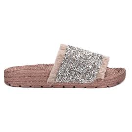 Rose Pantoufles VICES confortables