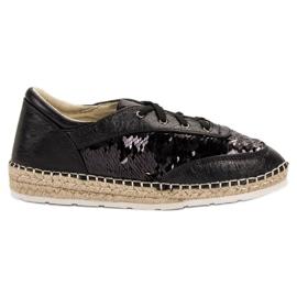 Chaussures avec paillettes VICES noir