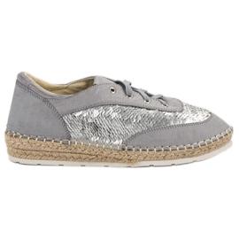 Chaussures avec paillettes VICES gris