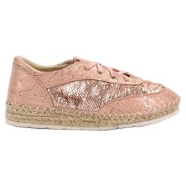 Chaussures avec paillettes VICES rose