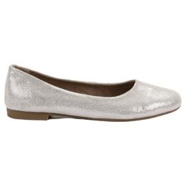 Ballerine en cuir VINCEZA gris