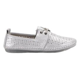 Chaussures en cuir VINCEZA gris