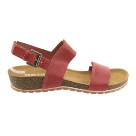 Big Star Sandales Red Big pour femmes 274A016 rouge