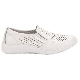Kylie Chaussures en cuir blanc