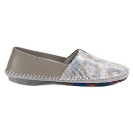 Goodin Chaussures de cuir gris