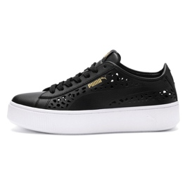 Puma Vikky Stacked Laser Cut 369378 01 chaussures noir