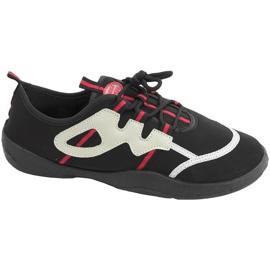 Chaussures de plage Aqua-speed noir gris-rouge 19A