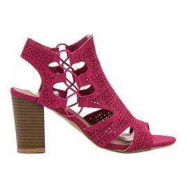 Goodin rose Sandales à la mode fuchsia