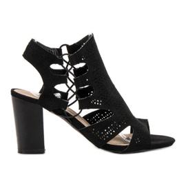 Goodin Sandales noires à la mode