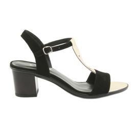Sandales pour femmes Anabelle 1447 noir / or