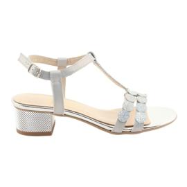 Sandales femme rayures Gamis 3661 gris perle