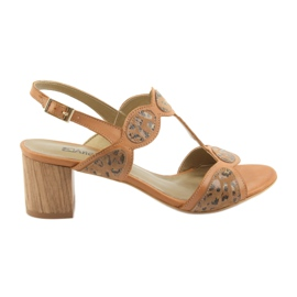 Brun Sandales pour femmes toffee / panther Anabelle 1352
