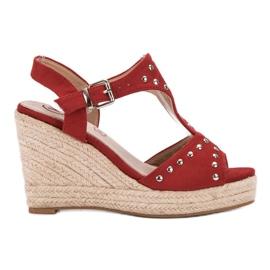 Kylie rouge Sandales à jets