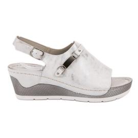 Goodin blanc Sandales compensées confortables