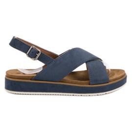 Goodin bleu Sandales en daim
