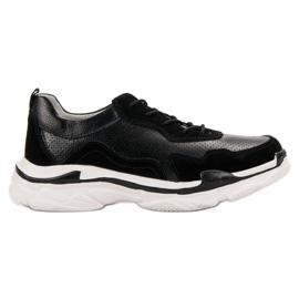 Goodin Baskets en cuir noir