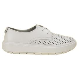 Goodin blanc Chaussures en cuir légères