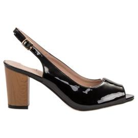 Goodin noir Sandales Femme Laqué