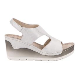 Goodin Sandales compensées confortables blanc