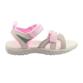 Sandales fille American Club gris / rose