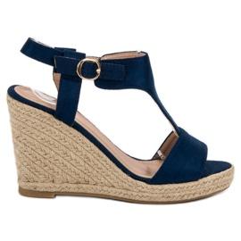 Anesia Paris bleu Sandales compensées à la mode