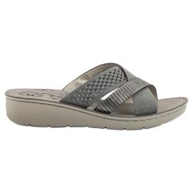 Evento Pantoufles grises confortables