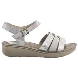 Evento gris Sandales d'argent