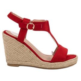 Anesia Paris rouge Sandales compensées à la mode