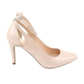 Brun Chaussures femme Edeo 3212 beige perle