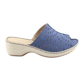 Bleu Pantoufles Koturno Caprice 27351 jeans pour femmes