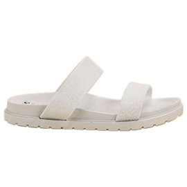 Seastar Pantoufles Brillantes blanc