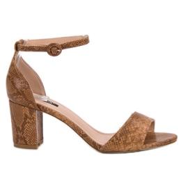 Sandales à imprimé serpent VICES brun