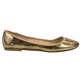 SHELOVET Ballerines d'or jaune