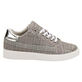 Evento gris Chaussures de sport à carreaux