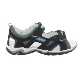Sandales de navets pour garçons Bartek 19176 bleu marine