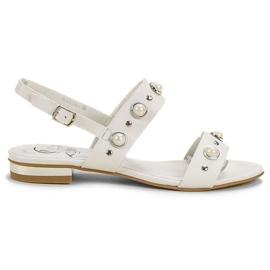 Kylie blanc Sandales plates confortables