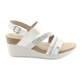 Sandales compensées INBLU EN009 argent