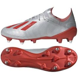 Chaussures de foot adidas X 19.1 Sg M F35311 argent rouge, gris / argent