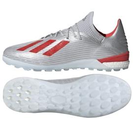 Chaussures de foot adidas X 19.1 Tf M G25752 multicolore argent