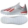 Chaussures de foot adidas X 19.1 Tf M G25752 rouge, gris / argent argent