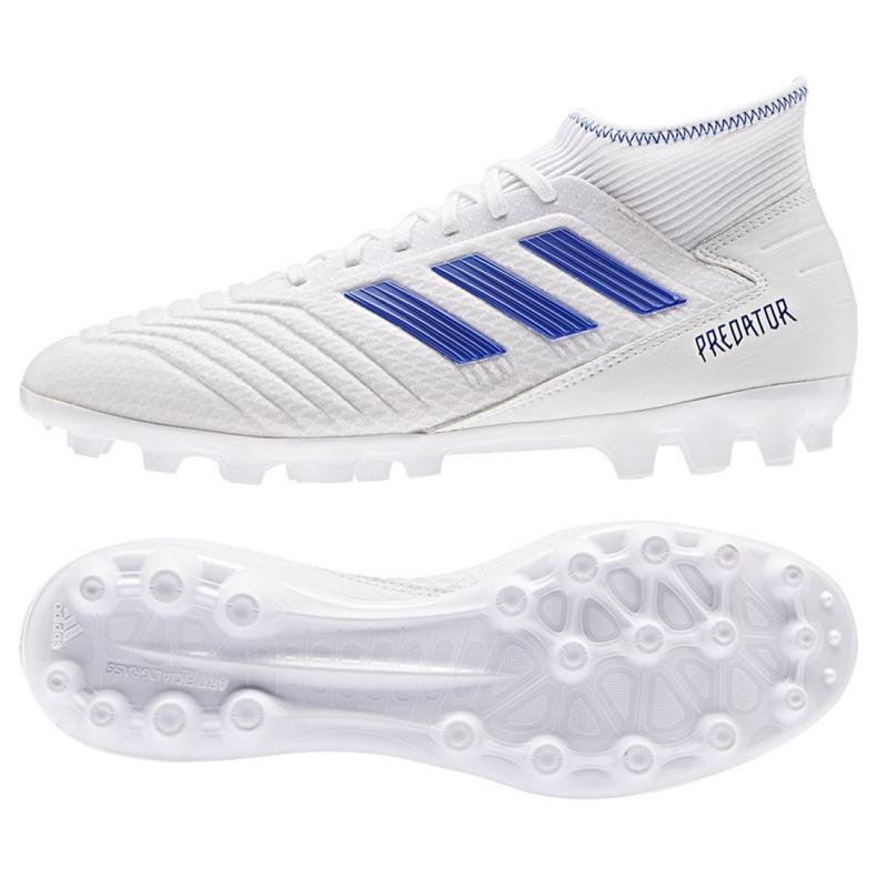 Chaussures de foot adidas Predator 19.3 Ag M D97943 blanc blanc