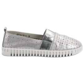 Filippo gris Chaussures à enfiler avec brocart
