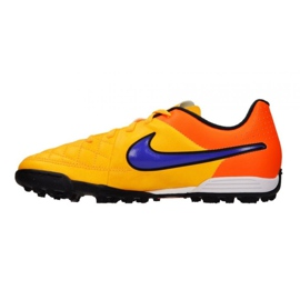 Chaussures de football Nike Tiempo Rio Ii Tf Jr 631524-858 multicolore orange