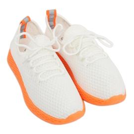 Chaussures de sport blanche et orange NB283 Fluorescence Orange