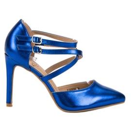 Kylie bleu Goujons de mode brillants