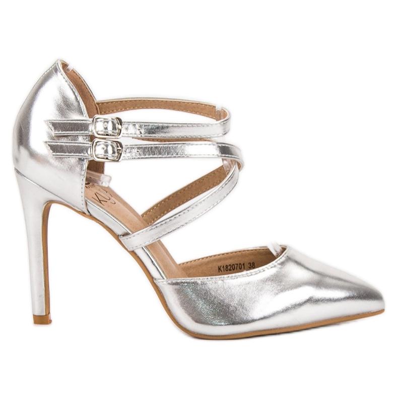 Kylie Goujons de mode brillants gris