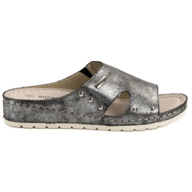 Goodin gris Pantoufles confortables