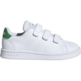 Blanc Adidas Advantage C Jr EF0223 chaussures